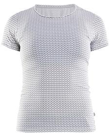 Craft Essential SS RN - damska koszulka z krótkim rękawem biała print