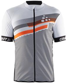 Craft Reel Graphic Jersey - męska koszulka rowerowa biała pomarańczowa