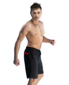 GWINNER MARTIN I - męskie spodenki kąpielowe, czarno-czerwone