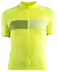 Craft Verve Glow Jersey - męska koszulka rowerowa - żółta/czarna