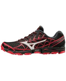MIZUNO WAVE HAYATE 4 - męskie buty trailowe, czarno-czerowne