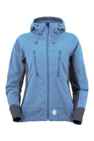 MILO YUKO LADY - damska wiatroszczelna kurtka polarowa, niebieska