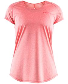 Craft Eaze Melange Tee - damska koszulka z krótkim rękawkiem różowa