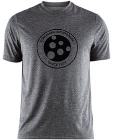 Craft Melange Graphic Tee - koszulka męska z krótkim rękawem szara