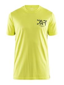 Craft Eaze Graphic Tee - koszulka męska z krótkim rękawem żółta