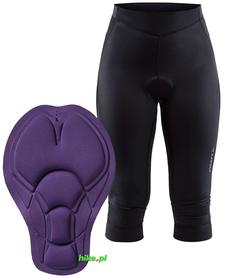 Craft Rise Knickers - damskie spodenki rowerowe za kolano - czarne