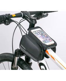 Roswheel podwójna torebka rowerowa na ramę z odpinanym etui na telefon