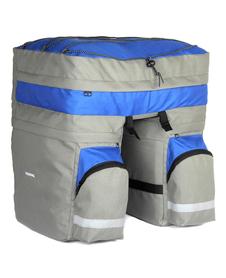 Roswheel sakwa trzykomorowa na bagażnik 60 L niebieska/szara