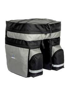 Roswheel sakwa trzykomorowa na bagażnik 60 L czarna/szara