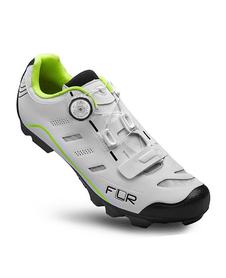 FLR F-75.II  CARBON buty rowerowe MTB biały/limonka