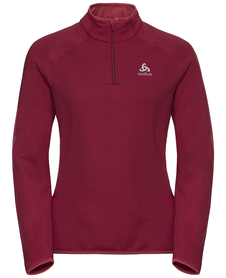 Odlo Carve Warm - ciepła damska bluza - burgund