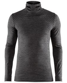 Craft Fuseknit Comfort Turtleneck - koszulka męska z golfem grafitowa