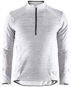 Craft Grid Half Zip - męska bluza jasnoszara
