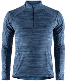 Craft Grid Half Zip - męska bluza granatowa melanż