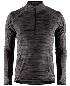 Craft Grid Half Zip - męska bluza czarna melanż