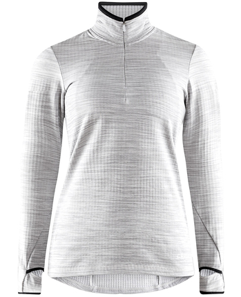 Craft Grid Halfzip damska ocieplana bluza jasnoszara