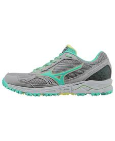 Mizuno Wave Daichi - damskie buty do biegania w terenie - szaro-turkusowe