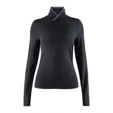 Craft Fuseknit Comfort Wrap- koszulka damska ze stójką czarna