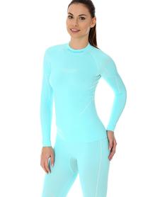 Brubeck Thermo damska koszulka termoaktywna błękitna