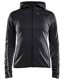 Craft Eaze Jersey Hood - damska bluza z kapturem grafitowa