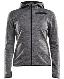 Craft Eaze Jersey Hood - damska bluza z kapturem szara