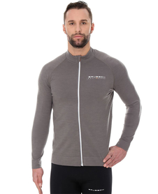 Brubeck Active Wool - męska bluza z wełną merino szara
