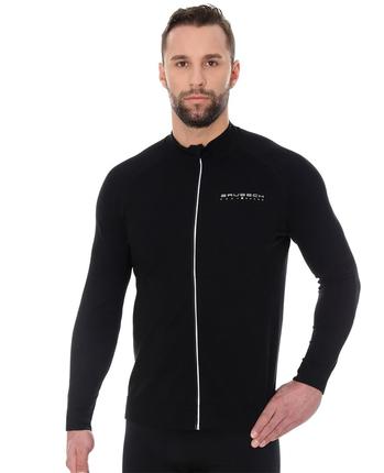 Brubeck Active Wool - męska bluza z wełną merino czarna
