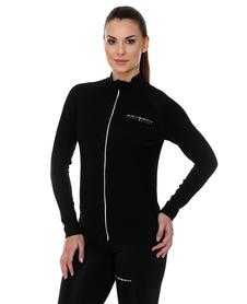 Brubeck Active wool - damska bluza z wełną merino czarna