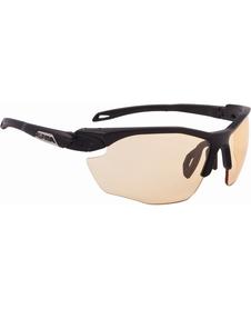 okulary sportowe Alpina Twist Five VL+ black, szkła pomarańczowe