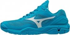 Mizuno Wave Stealth V - buty halowe - niebieskie