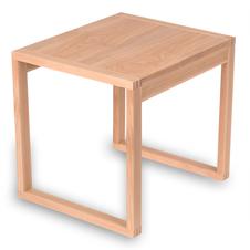 Drewniany stolik kawowy, minimalistyczny