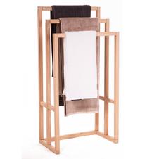Dębowy, stojący wieszak na ręczniki - dowolna szerokość