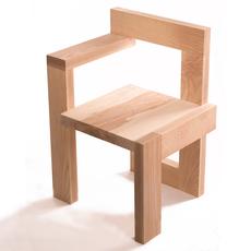 """Krzesło jesionowe """"Steltman chair"""" według projektu Gerrit Rietvelda"""