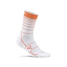 Craft Grandfondo Sock - skarpety rowerowe biało/pomarańczowe