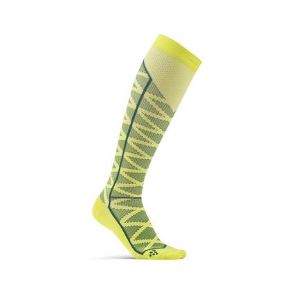 Craft Compression Pattern Sock - skarpety kompresyjne - żółte