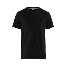 CRAFT DISTRICT CLEAN TEE - męska koszulka bawełniana czarna