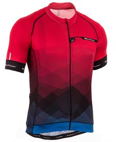 Berkner Pablo męska koszulka rowerowa z krótkim rękawem czerwona