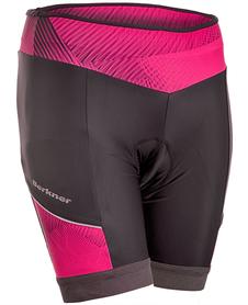 Berkner Magan - damskie spodenki rowerowe - czarne/różowe