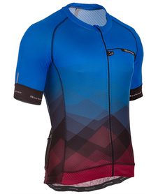 Berkner Pablo męska koszulka rowerowa z krótkim rękawem niebieska