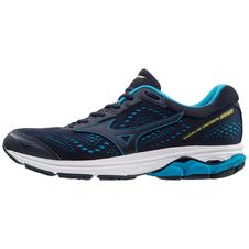 Mizuno Wave Rider 22 - męskie buty do biegania - czarny/niebieski rozm. 11.5