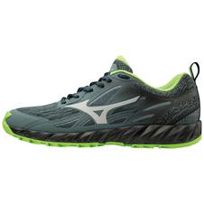 Mizuno Wave Ibuki - buty do biegania w terenie - grafitowe/zielone