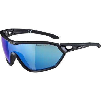 Alpina S-Way L CM+ - okulary sportowe  czarne-niebieskie
