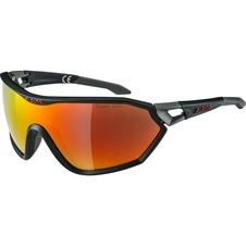 Alpina S-Way L CM+ - okulary sportowe  czarne-pomarańczowe
