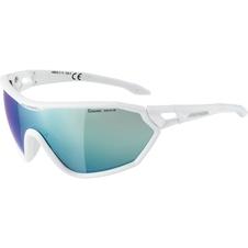 Alpina S-Way CM+ okulary sportowe białe-niebieskie