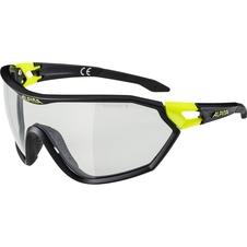 Alpina S-Way VL+ okulary sportowe czarny-neonowy żółty