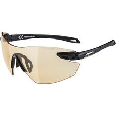 Alpina TWIST 5 SHIELD RL VL+ okulary sportowe czarne-złote