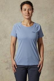 Koszulka damska Rab Pulse SS Tee niebieska