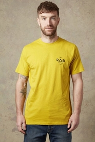 Koszulka Rab Stance Geo SS Tee żółta