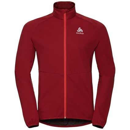 Odlo Jacket Aeolus Element Warm - kurtka męska - burgundowa