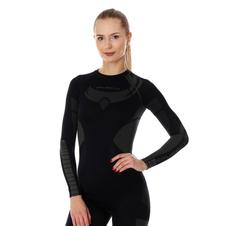 Brubeck Dry damska koszulka termoaktywna długi rękaw czarna